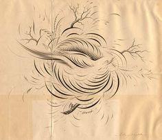 Bird Flourish, W.E. Dennis
