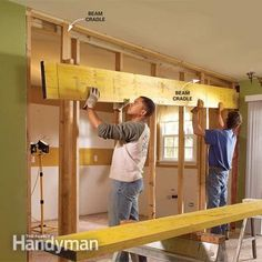 Photo 9: Set the beam in place