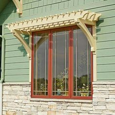 Window arbors. Better than shutters? (Shed Plans Shutters)