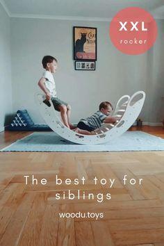 Wood Kids Toys, Wood Toys, Diy Home Crafts, Diy Crafts For Kids, Wooden Rocker, Kids Gym, Kids Room Design, Montessori Toys, Baby Furniture