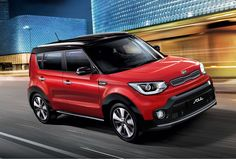 2017 Kia Soul is finally getting available turbo power in the form of a force-fed, 1.6-liter four-cylinder engine with 201 brake horsepower. The popular box car gains more mph and a new quick-shifting dual-clutch gearbox.