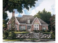 French country cottage // 4 bedrooms, 2.5 baths, 2 car, unfinished basement & optional bonus room upstairs