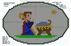 carpeta de pastor adorando al niño - 47 X 55-1