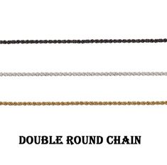 Double Round Chain~~Necklace & Bracelet Making Chain~~Double Rolo Link Cable Chain~~Unfinished Double Rolo Chain~~Making Chain Supply.(1486) Brass Chain, Bracelet Making, Chains, Bracelets, Etsy, Style, Rolo, Swag, Making Bracelets