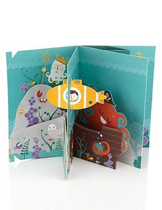 360 Pop Up Underwater Birthday Card | M&S