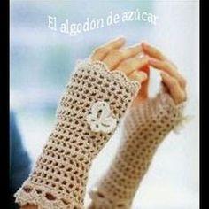 Patrón guantes sin dedos a crochet   Aprender manualidades es facilisimo.com