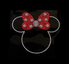 for Mama & Amber.....  Minnie with Bow Iron On Rhinestone Transfer Bling by theblingdiva1, $6.99