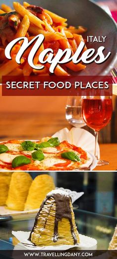 Discover the secret places where locals eat in Naples, Italy. The best foods, the cheap deals and what to eat! Travel in Europe.