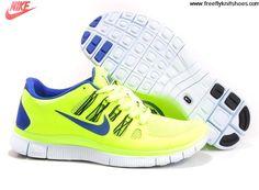 online retailer f61a5 e31b1 Cheap Womens Nike Free 5.0 Volt Black Barely Volt Hyper Blue Shoes Sports  Shoes Shop Nike