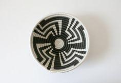 Small Black White Woven Basket by boxofhollyhocks on Etsy, $22.00