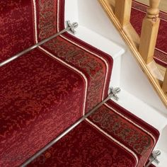 Soft & Luxurious Stair Carpet Runners Quality Carpets, Modern Cottage, Carpet Stairs, Carpet Runner, Animal Print Rug, Jute, Compact, Weave, Red