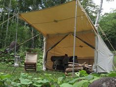 Old Timer Baker Tent Camp.Use to go camping with one of these, wish I could… Best Tents For Camping, Camping Glamping, Camping And Hiking, Camping Life, Family Camping, Camping Hacks, Camping Gear, Outdoor Camping, Outdoor Gear