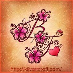 monogram #hibiscus #tattoo