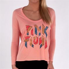 Chaser Womens Contemporary Pink Floyd Boxy Tee #VonMaur #Chaser #Pink #PinkFloyd #GraphicTee