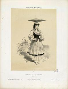 """Femme de Bayonne  vendant la  sardine"""