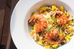 Pasta with mango and shrimps - La Cuisine de Pierre !