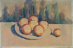 Still Life with Oranges on a Plate, 1900.  Paul Cezanne
