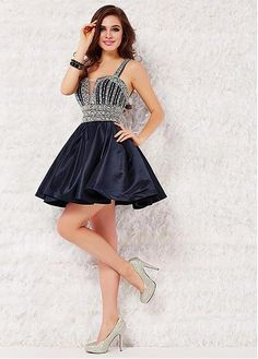 Gorgeous A-line Homecoming Dresses With Beadings