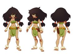 Jungle Girl Character Sheet by friedsashimi7