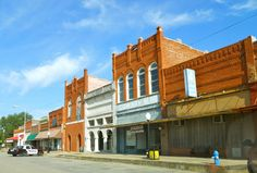 Busy small town, Oklahoma