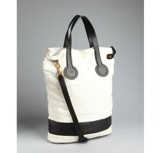 Celine white linen calf detail bucket bag Linen Bag, Cotton Bag, Celine, Bucket Bag, Purses And Bags, Calves, My Design, Jewelery, Handbags