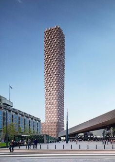 matthijs la roi developed the tallest tower in the netherlands. the design is a response to the strategic ambitions of the city. Parametric Architecture, Modern Architecture Design, Facade Design, Concept Architecture, Futuristic Architecture, Facade Architecture, Amazing Architecture, Rotterdam Architecture, Classical Architecture