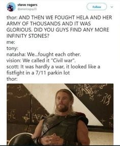 For real y'all have to get on Thor's level