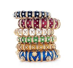 Jean Schlumberger for TiIFFANY & Co. Varnished bracelets oriental style