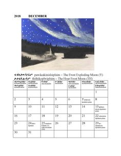 2018 December | Cree Literacy Network Frost Moon, Positive And Negative, News Stories, Literacy, December, Positivity, Optimism