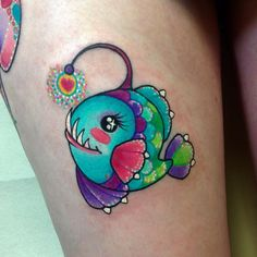 Anglerfish ! Thank you @michelleyoder I can't wait to add more friends!! #anglerfish #tattoo #wlba