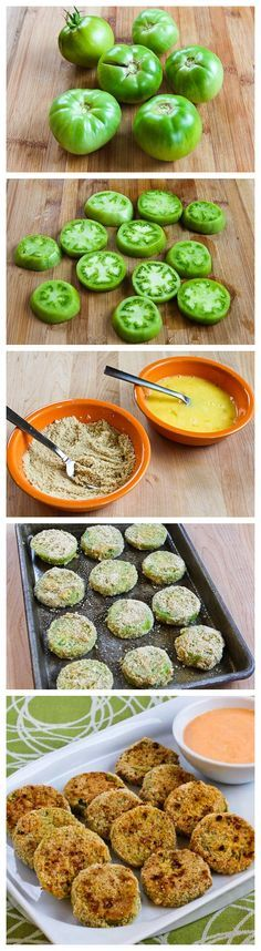 Oven Fried Green Tomatoes // Southern comfort without the fat