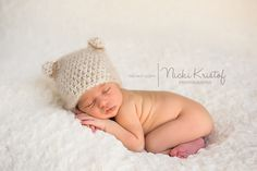 Crochet Newborn Bear Hat, Crochet Newborn Photo Prop, Holidays, Christmas. $15.00, via Etsy.