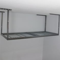 Available In White Or Grey This Overhead Garage Storage Rack Is The Perfect Solution For