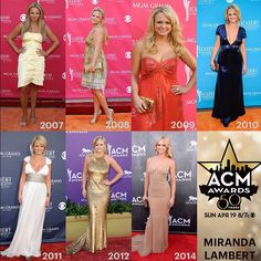 ACM ‪#FashionFriday Flashback: Take a look at Miranda Lambert's style at the ACM Awards through the years! #ACMawards50 @miranda1506