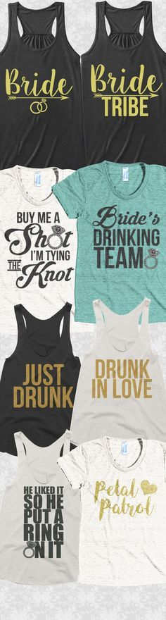 Wedding season is here! Check out these awesome Bachelorette party tees and tank tops you will not find anywhere else! Not sold in stores and only 2 days left for free shipping! Grab yours or gift it to a friend, you will both love it
