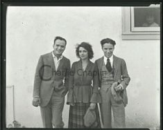 Douglas Fairbanks and Charlie Chaplin with an unidentified John Hawkes, Charles Spencer Chaplin, Douglas Fairbanks, Bad Memories, Angels In Heaven, 3 Friends, Charlie Chaplin, Silent Film, Old Pictures