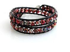 Wrap bracelet  http://www.sashe.sk/kacenkag/detail/wrap-ligotavy-cerveny