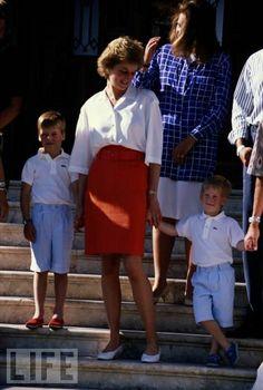 Princesse Diana et ses enfants