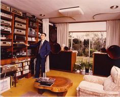 Accuphase founder Jiro Kasuga in his home, 1977