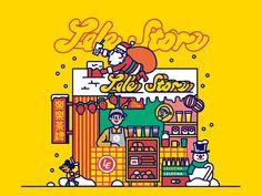 Behance :: 为您呈现 Food Graphic Design, Japanese Graphic Design, Graphic Design Posters, Graphic Design Inspiration, Flat Design Illustration, Digital Illustration, Graphic Illustration, Exhibition Poster, Floral Illustrations