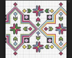 Discover thousands of images about Motif Cross Stitch Borders, Cross Stitch Flowers, Cross Stitch Charts, Cross Stitching, Cross Stitch Embroidery, Embroidery Patterns, Cross Stitch Patterns, Mochila Crochet, Tapestry Crochet