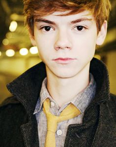 Thomas Sangster. Had to make a bucket list in Social Studies. Meeting him was #1