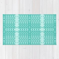 RUG in 3 sizes available. Gap Teal Lacy Wave designed by We~Ivy. Follow We~Ivy's Art BootH for more special #art #gift ideas for #holiday seasons or # birthday #party, to find great #home decors or stuff just to spoil yourself. Wave Design, My Design, Waves Line, To Spoil, Face Towel, My Themes, Website Themes, Hand Towels, Ivy