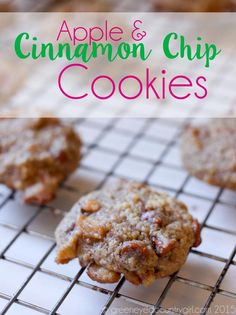 These Apple Cinnamon Chip Cookies are perfectly thick and chewy and full of fall flavors!