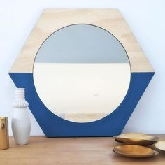 My obsession with mirrors continues 🙊😁 Introducing our Hexform Mirror!! To be listed online soon along with the square version (see previous post) on www.luum.com.au ✌🏻️ Its a 50cm round mirror set within a 24mm birch plywood frame, & then painted in a colour of your choice 👌🏻 Email if you can't wait! hello@luum.com.au xxx  Designed & made in Melbourne…