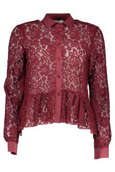 Camicia Donna Liu Jo (BO-Z65082 J9007 92025) colore Rosso