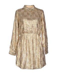 Paul & Joe Sister gold crepe shirt dress $254, get it here: http://rstyle.me/~2m6Ic