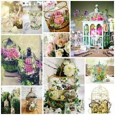 Birdcage Wedding Centerpieces- exactly what I've been envisioning! Wedding Centerpieces, Wedding Table, Wedding Decorations, Vintage Centerpieces, Garden Wedding, Wedding Flower Inspiration, Wedding Flowers, Birdcage Wedding, Vintage Birds