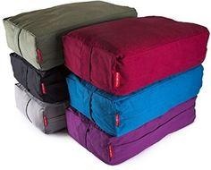 Peace Yoga® Zafu Meditation Yoga Cotton Rectangle Bolster Pillow Cushion - Blue #PeaceYoga