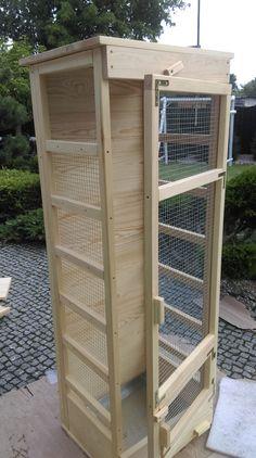 Drewniana woliera dla szynszyli - zamów taką dla siebie. Wooden chinchilla cage. #szynszyle #szynszyka